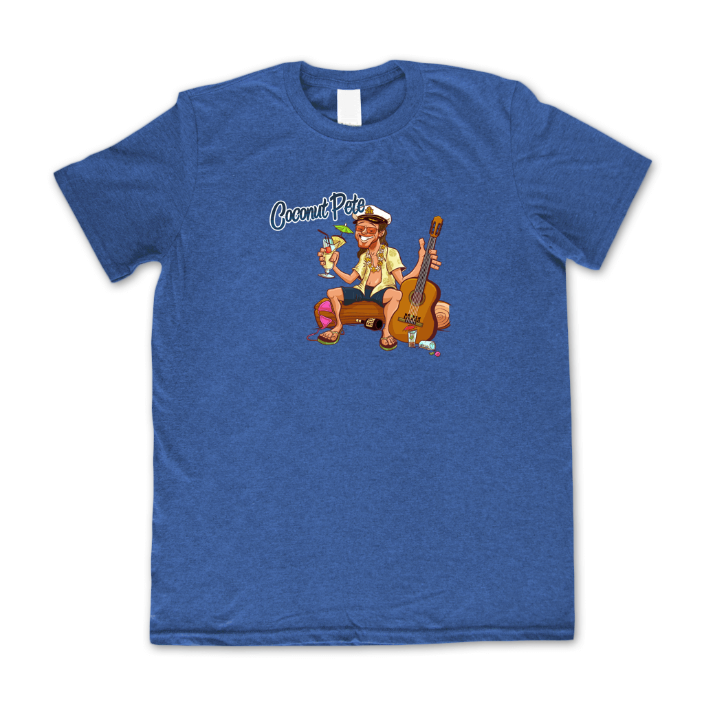 Coconut Pete Heather Royal T-Shirt - Broken Lizard - Hello Merch