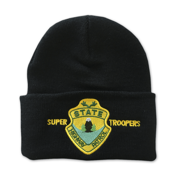 Super Troopers Black Beanie by Broken Lizard for sale on hellomerch.com