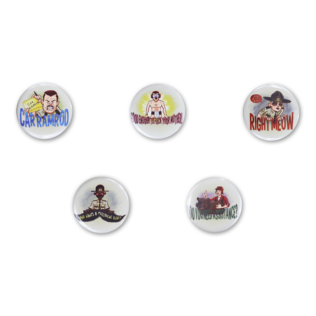 Super Troopers Button Set