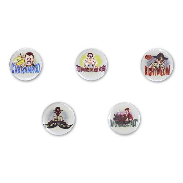 Super Troopers Button Set by Broken Lizard for sale on hellomerch.com