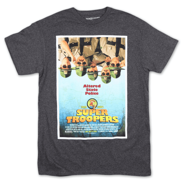 Super Troopers Dark Heather T-Shirt by Broken Lizard for sale on hellomerch.com