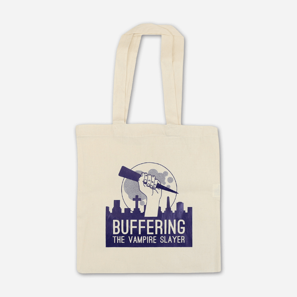 FINAL RUN: Buffering Logo Tote Bag by Buffering the Vampire Slayer for sale on hellomerch.com