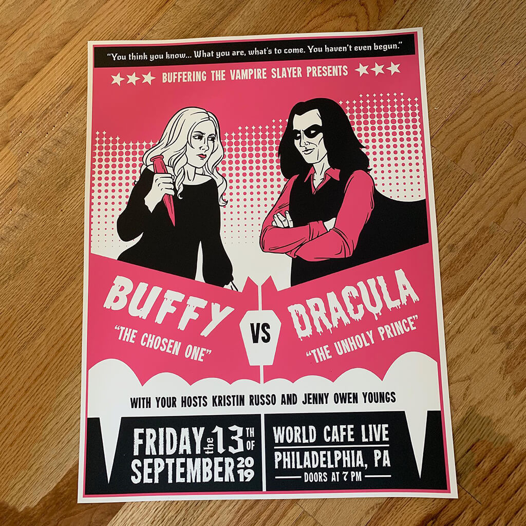 Limited Edition Buffy vs Dracula Poster