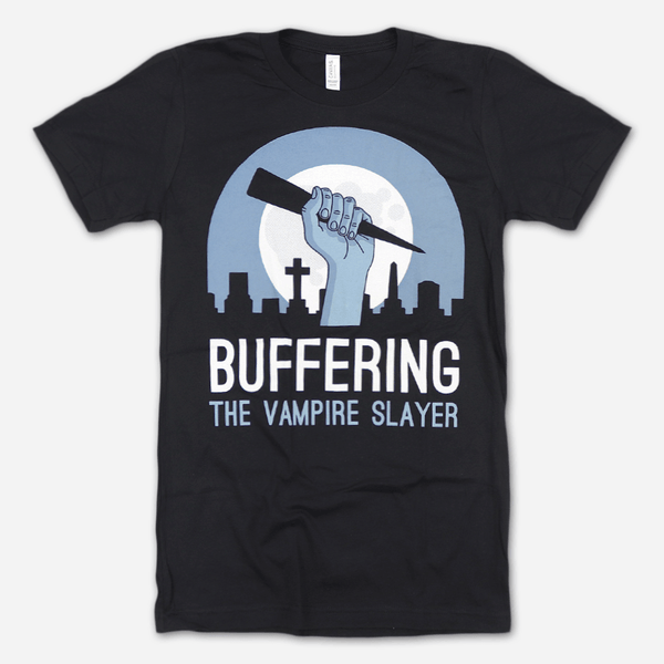 Buffering Light Logo Tee by Buffering the Vampire Slayer for sale on hellomerch.com