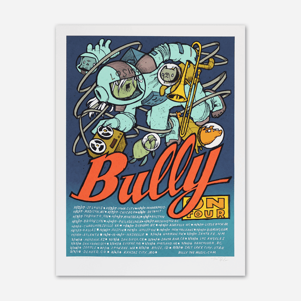 Astronaut Tour Poster by Bully for sale on hellomerch.com