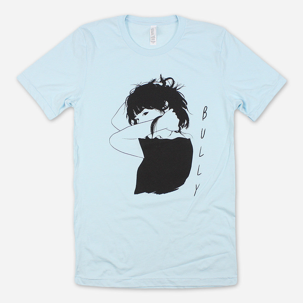 Girl Sketch Light Blue T-Shirt