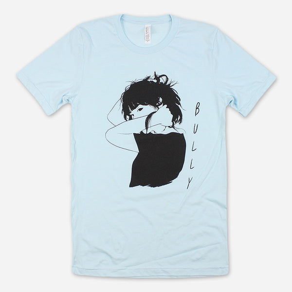 Girl Sketch Light Blue T-Shirt by Bully for sale on hellomerch.com
