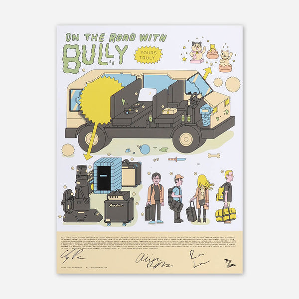 On The Road With Bully Signed Poster by Bully for sale on hellomerch.com