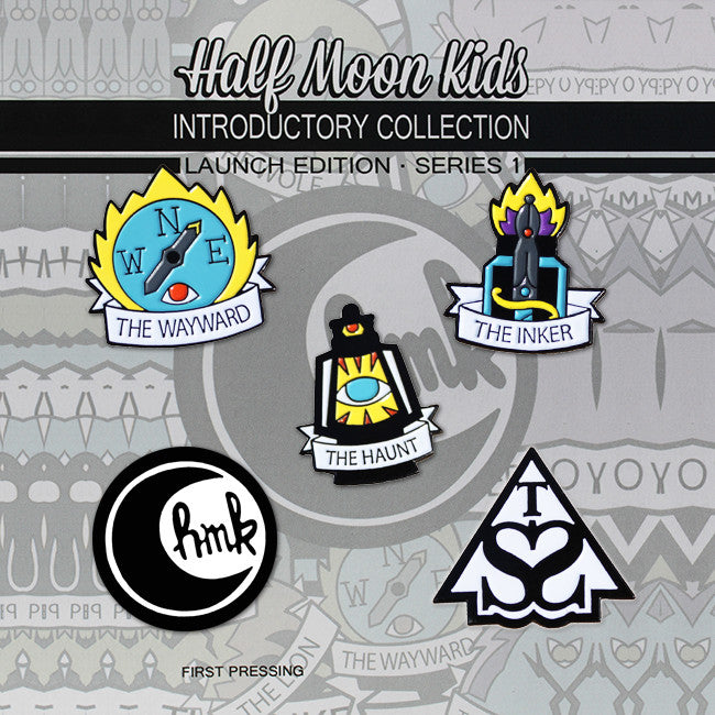 Limited Edition Half Moon Kids Pin Pack