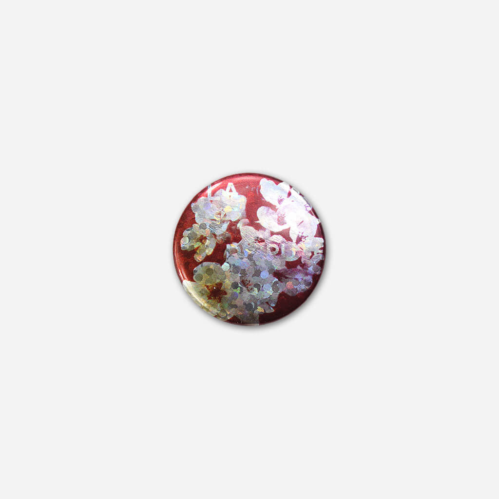 "Metallic 1"" Button"