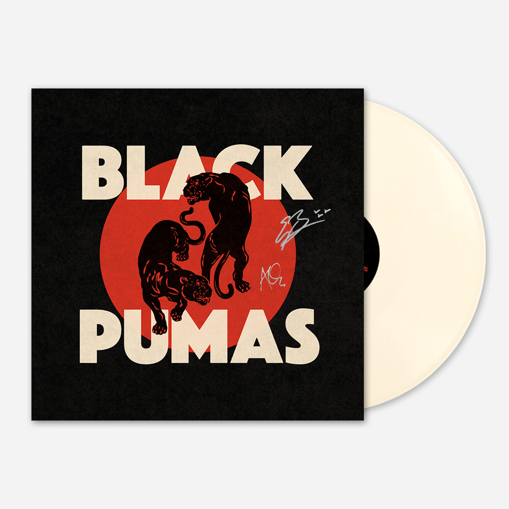 Signed Black Pumas Cream Vinyl