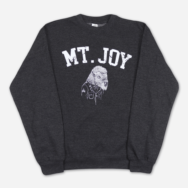 Buffalo Charcoal Sweatshirt by Mt. Joy for sale on hellomerch.com