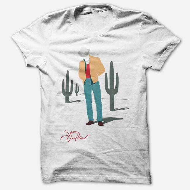 Cacti White T-Shirt - Sam Outlaw - Hello Merch