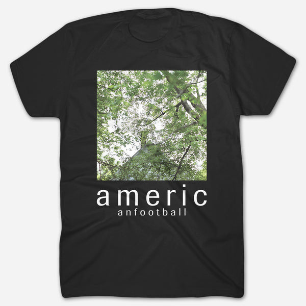 Tree Canopy Black T-Shirt by American Football for sale on hellomerch.com