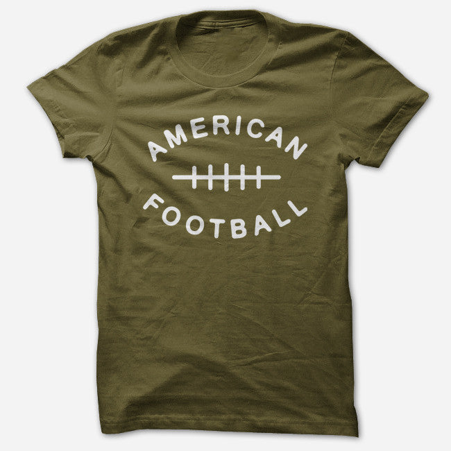 Laces Olive T-Shirt - American Football - Hello Merch