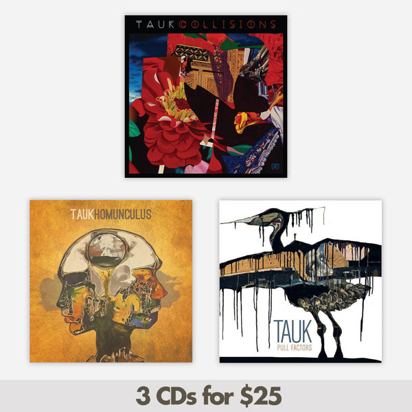 3 CDs for $25 by TAUK for sale on hellomerch.com