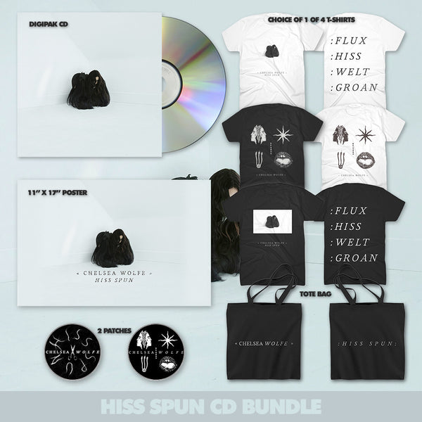 Hiss Spun CD Bundle by Chelsea Wolfe for sale on hellomerch.com