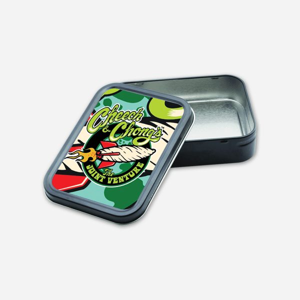 Joint Venture Stash Tin by Cheech and Chong for sale on hellomerch.com