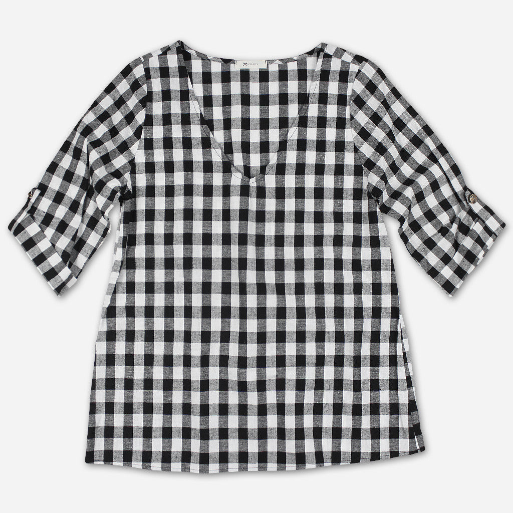 Gingham Tunic - Oui Fresh - Hello Merch