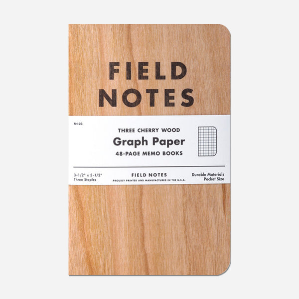 Cherry Wood: Graph Paper 3-Pack by Field Notes for sale on hellomerch.com