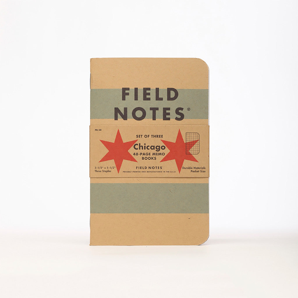Chicago Edition: Graph Paper 3-Pack - Field Notes - Hello Merch