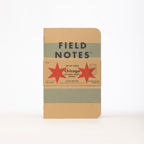Chicago Edition: Graph Paper 3-Pack by Field Notes for sale on hellomerch.com
