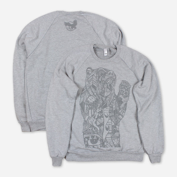 Cali Roots Heather Grey Pullover Sweatshirt by Chris Benchetler for sale on hellomerch.com