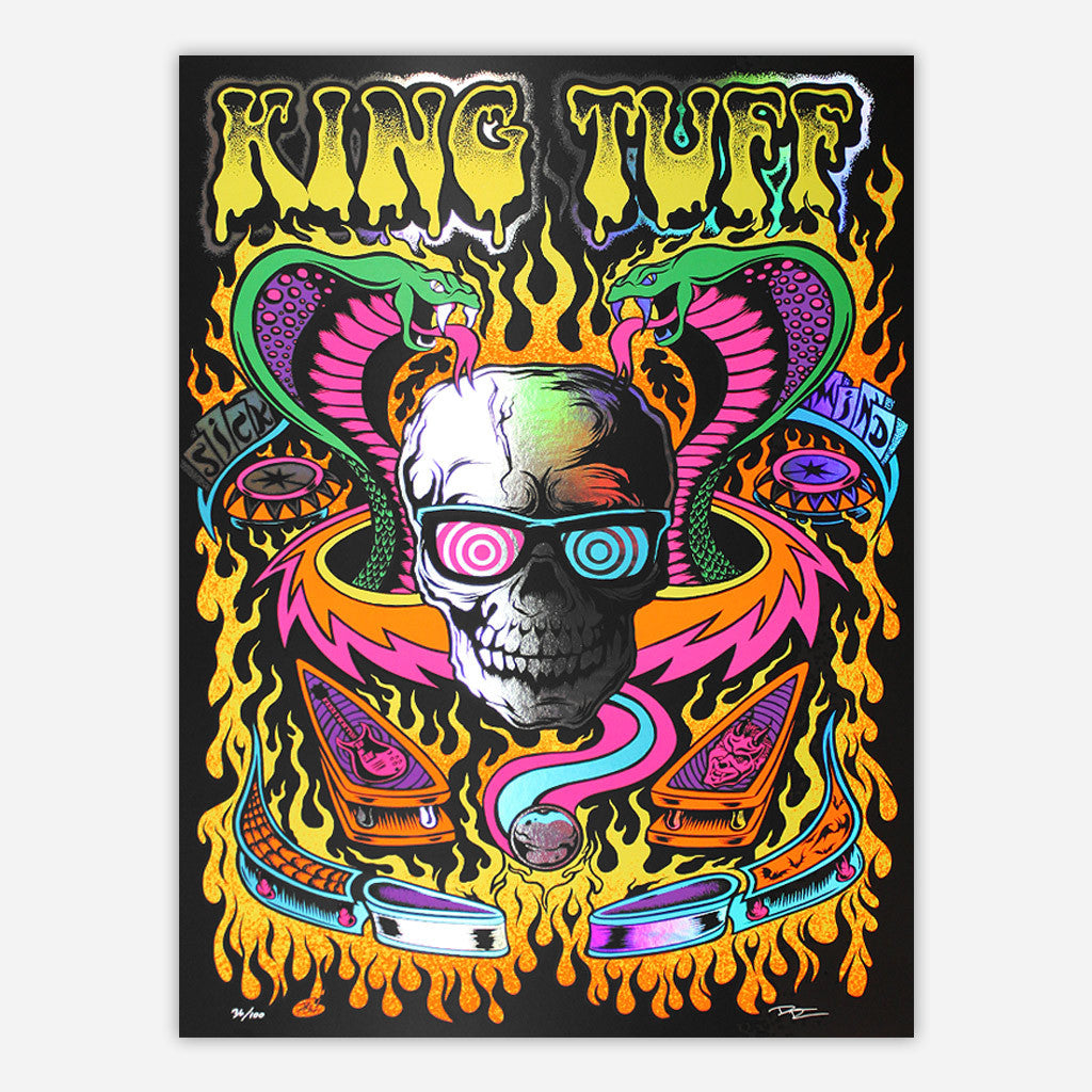 Limited Edition Pinball Black Light Posters - King Tuff - Hello Merch