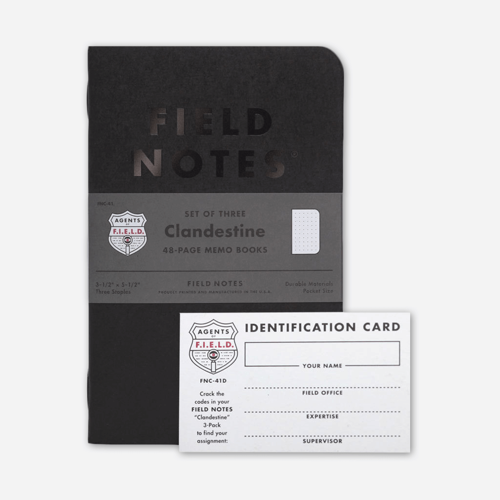 Clandestine 3-Pack - Field Notes - Hello Merch