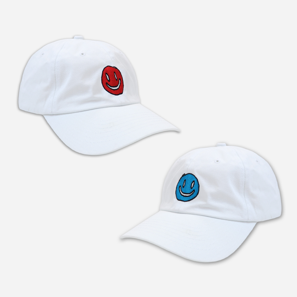 Smiley White Dad Hat