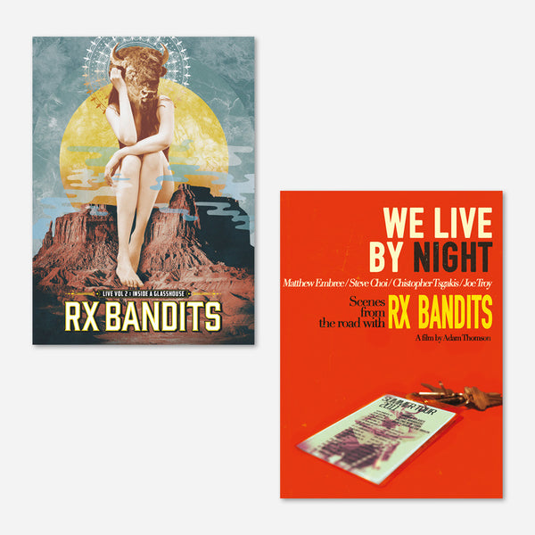 RX Bandits Live Vol 2. : Inside a Glass House + We Live By Night DVD Bundle by RX Bandits (Band) for sale on hellomerch.com