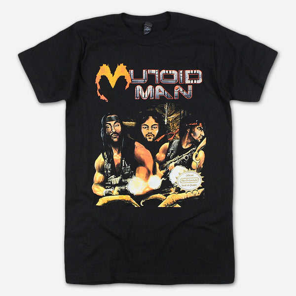Contra Man Black T-Shirt by Mutoid Man for sale on hellomerch.com