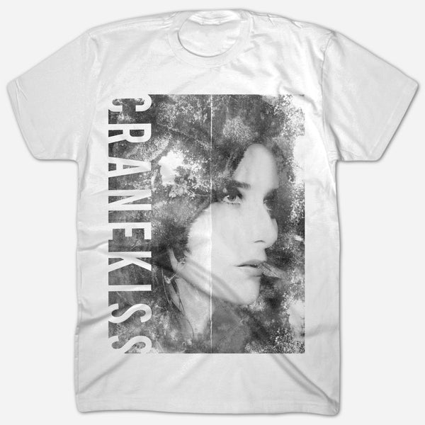 Cranekiss White T-Shirt by Tamaryn for sale on hellomerch.com