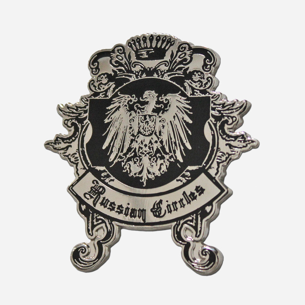 RC Black & Silver Enamel Pins - Russian Circles - Hello Merch