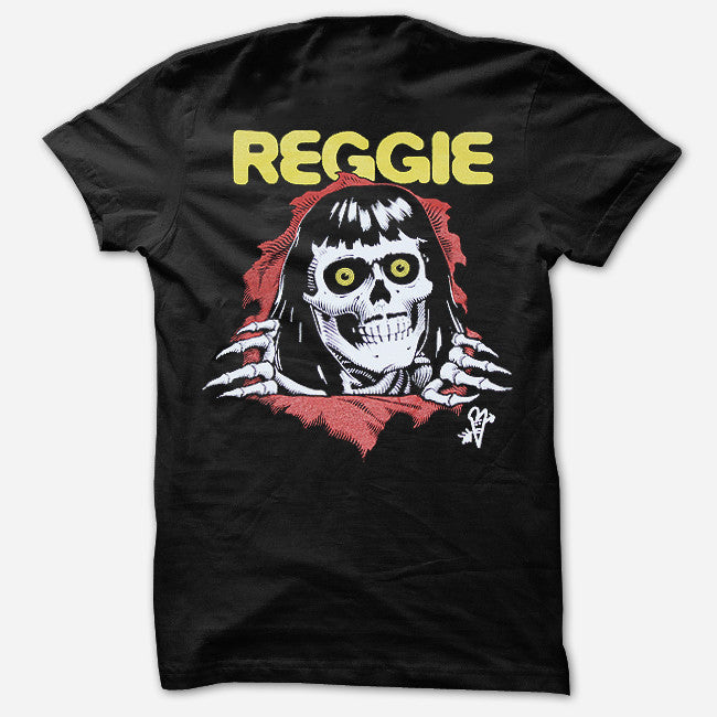 Crossbones Black T-Shirt - Reggie and the Full Effect - Hello Merch