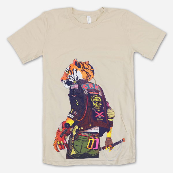 CRX Tiger Soft Cream T-Shirt by CRX for sale on hellomerch.com