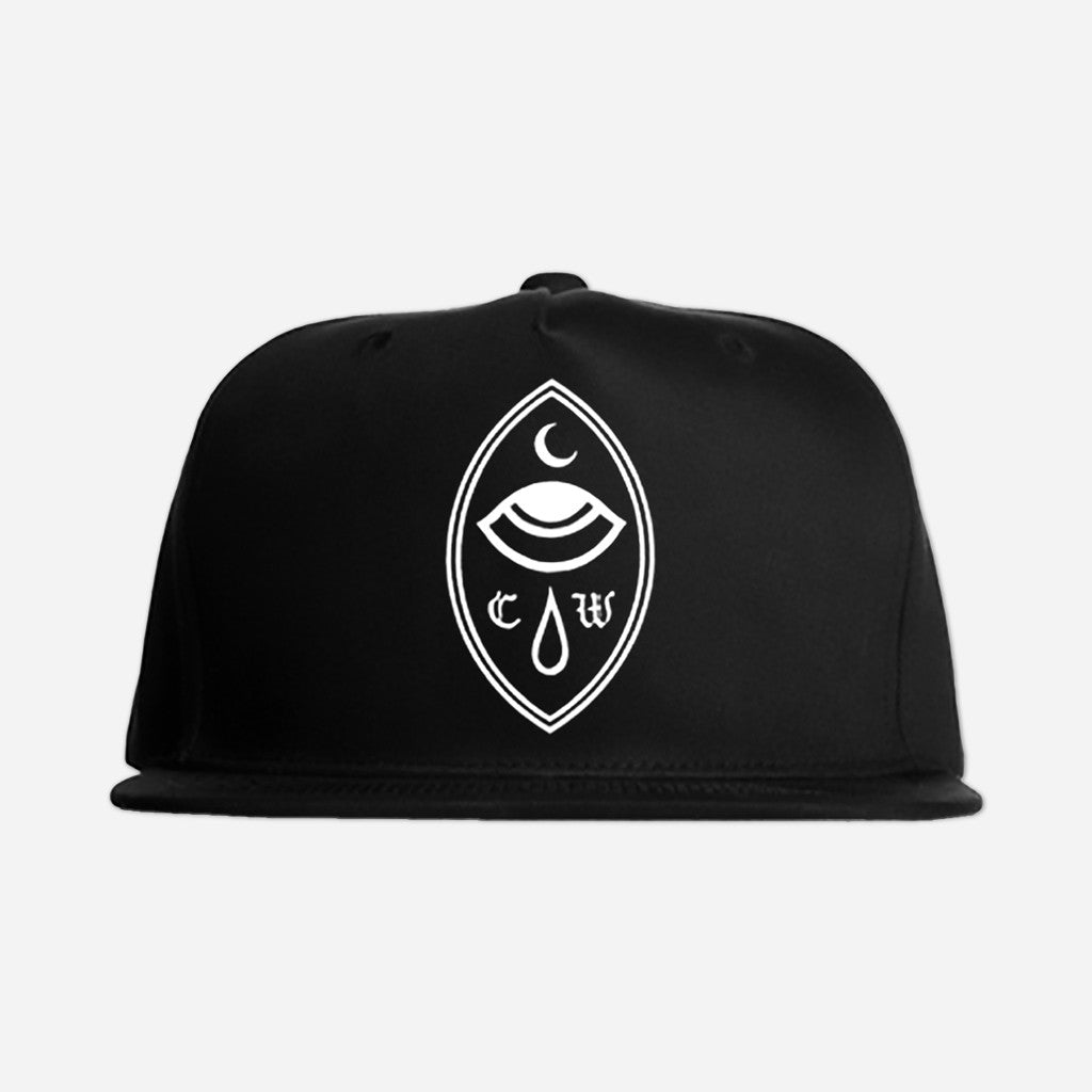 Crying Eye Black Embroidered Snapback Hat - Chelsea Wolfe - Hello Merch