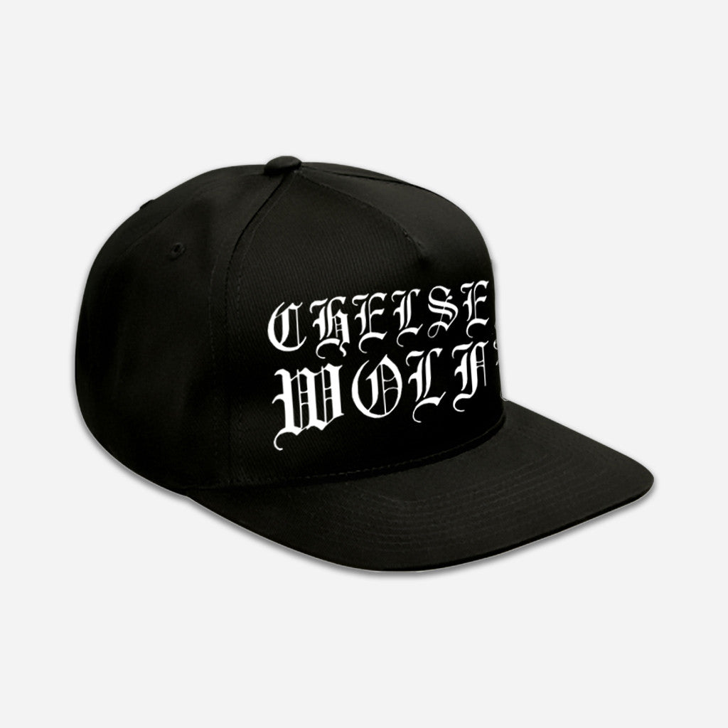 CW Classic Logo Black Embroidered Snapback Hat