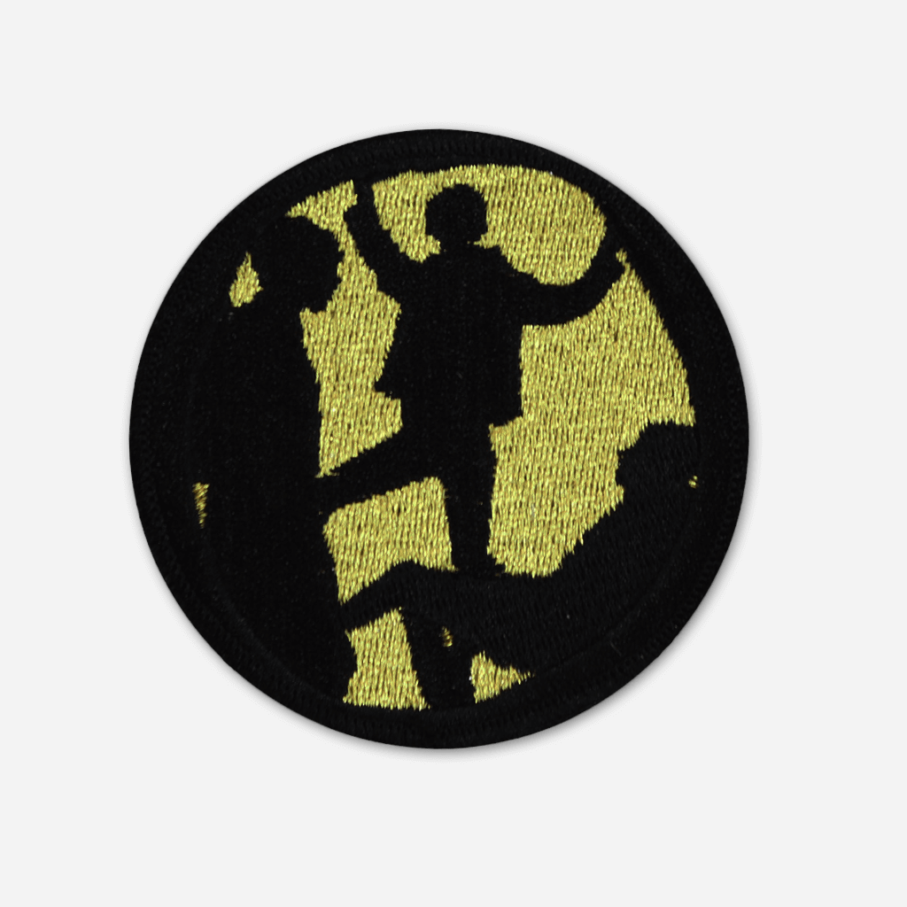 Cave Gold Embroidered Patch