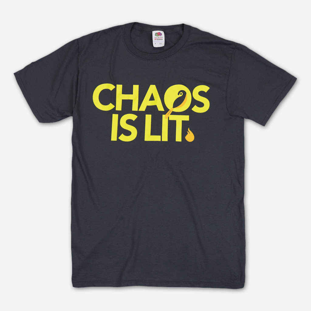 Chaos Charcoal Grey T-Shirt