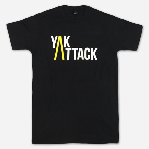Classic Black T-Shirt by Yak Attack for sale on hellomerch.com