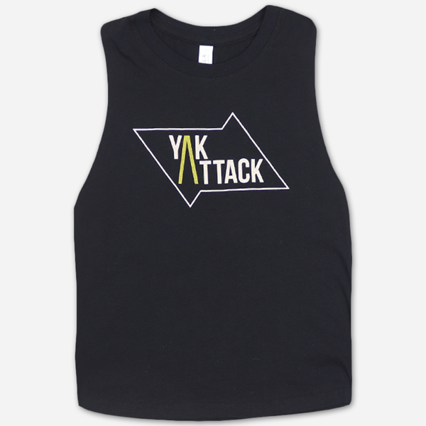 Classic Women's Black Muscle Tank by Yak Attack for sale on hellomerch.com