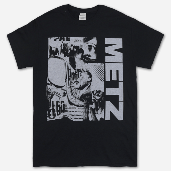 Collage Black T-Shirt by Metz for sale on hellomerch.com