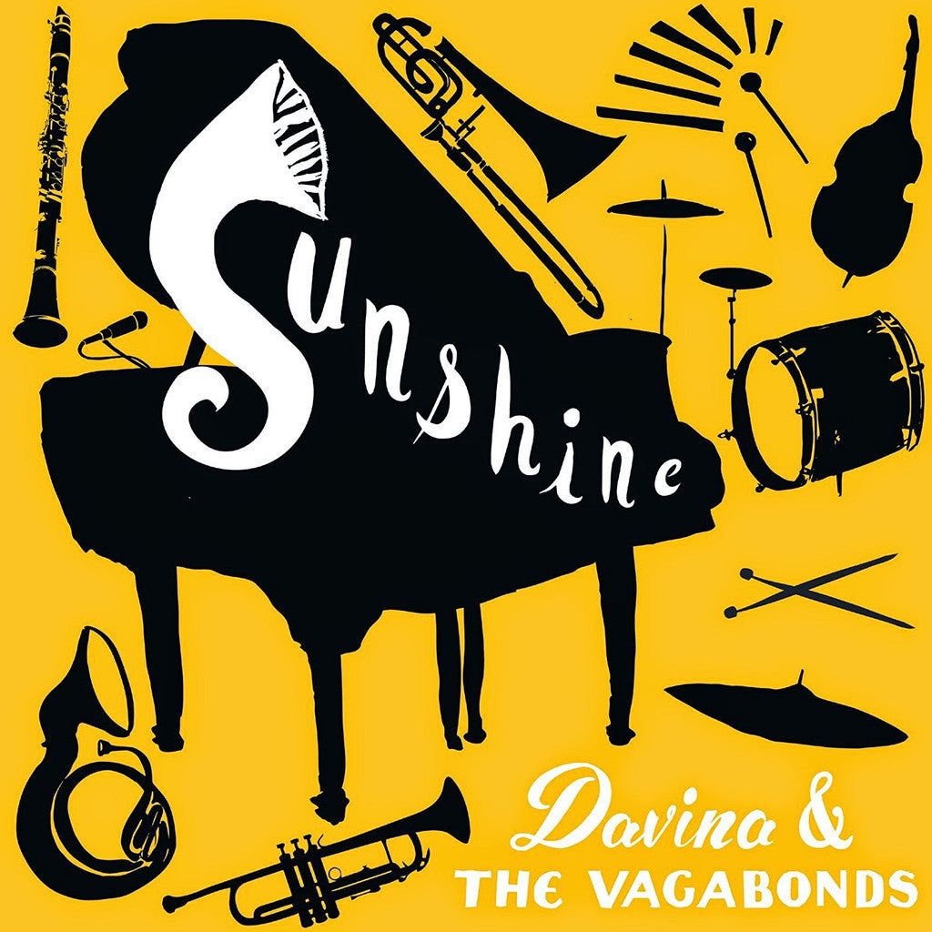 Sunshine CD or Vinyl T-Shirt Bundle - Davina and The Vagabonds - Hello Merch