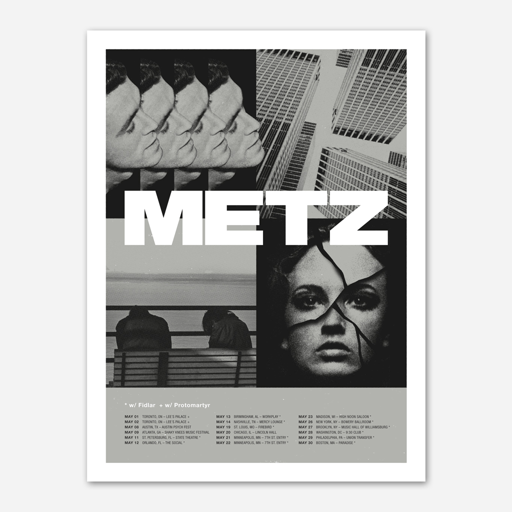 DBLNT US 2015 Tour Poster - Metz - Hello Merch