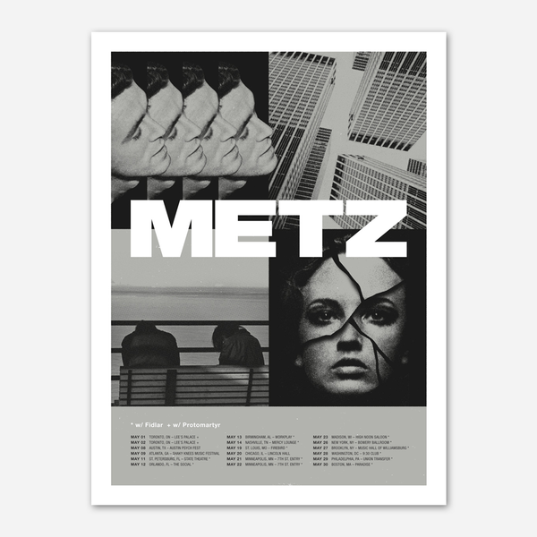 DBLNT US 2015 Tour Poster by Metz for sale on hellomerch.com
