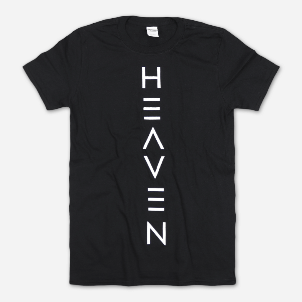 Heaven Center Simple Logo Black T-Shirt - Dilly Dally - Hello Merch