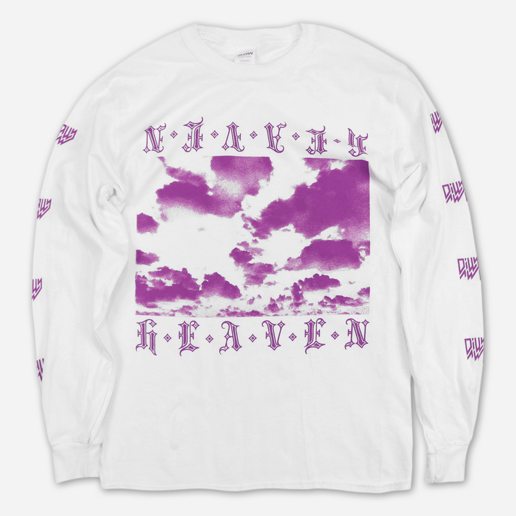 Heaven White Long Sleeve T-Shirt - Dilly Dally - Hello Merch