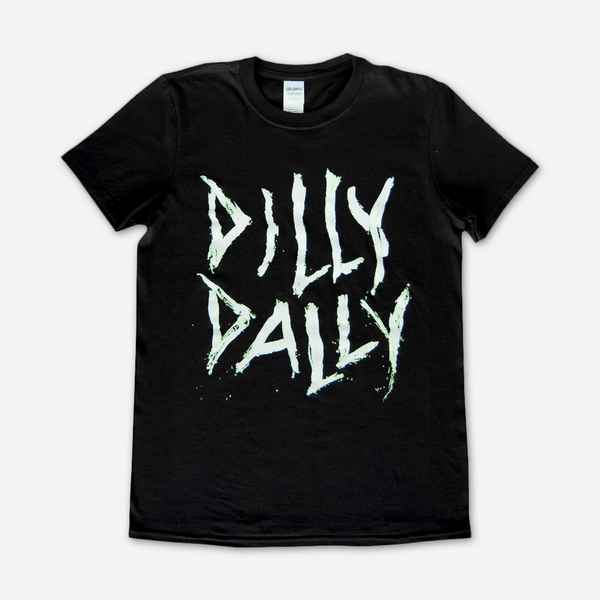Dilly Dally Black T-Shirt by Dilly Dally for sale on hellomerch.com