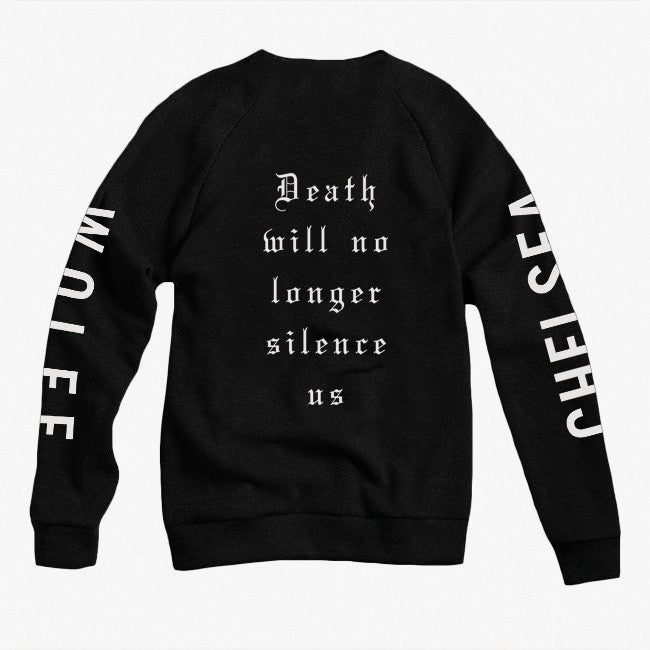 Death Black Crew Neck Pullover Sweatshirt - Chelsea Wolfe - Hello Merch